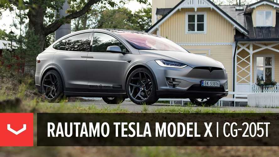 Check Out This Slick Novitec Tesla Model X With Vossen Wheels: Video