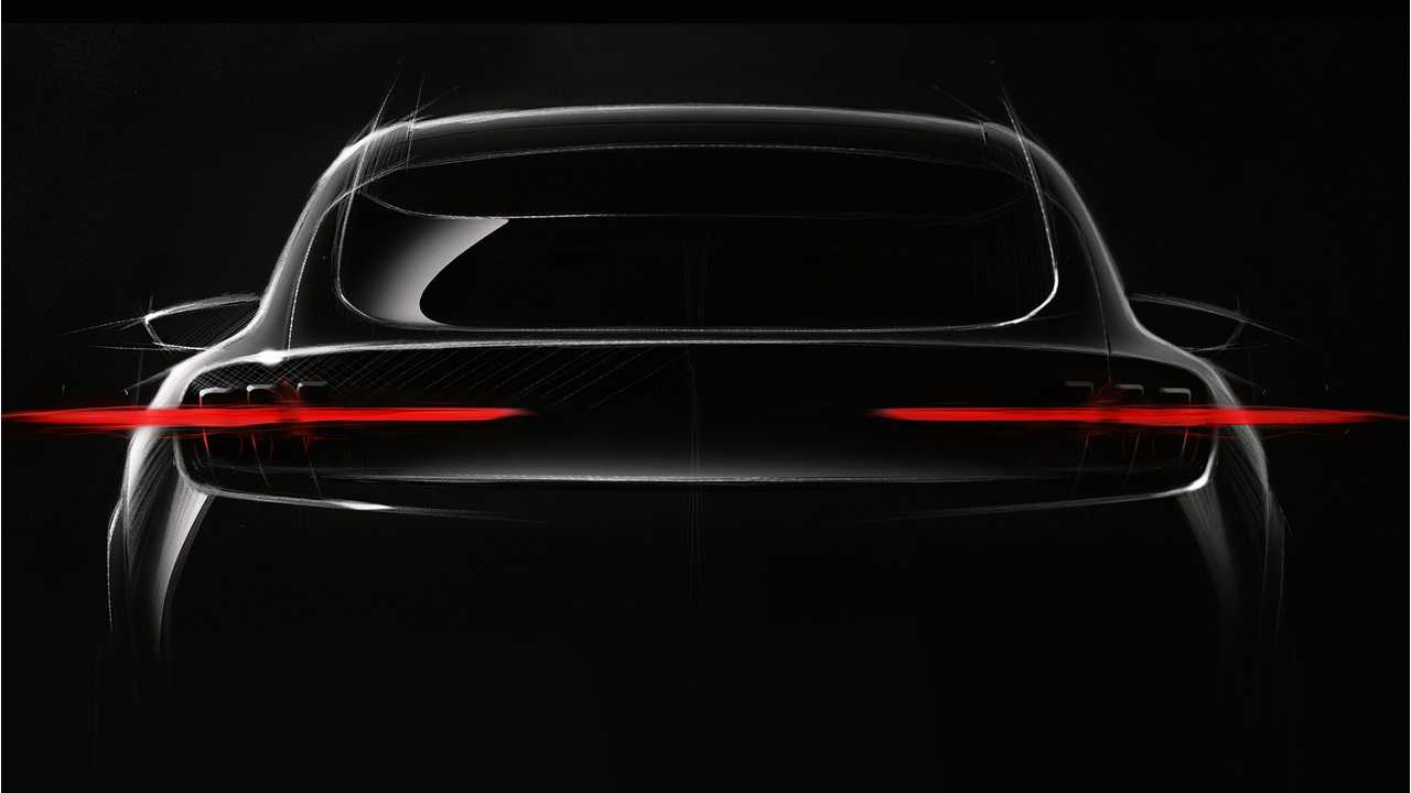 So far, we've only seen this teaser image of Ford's dedicated EV crossover.