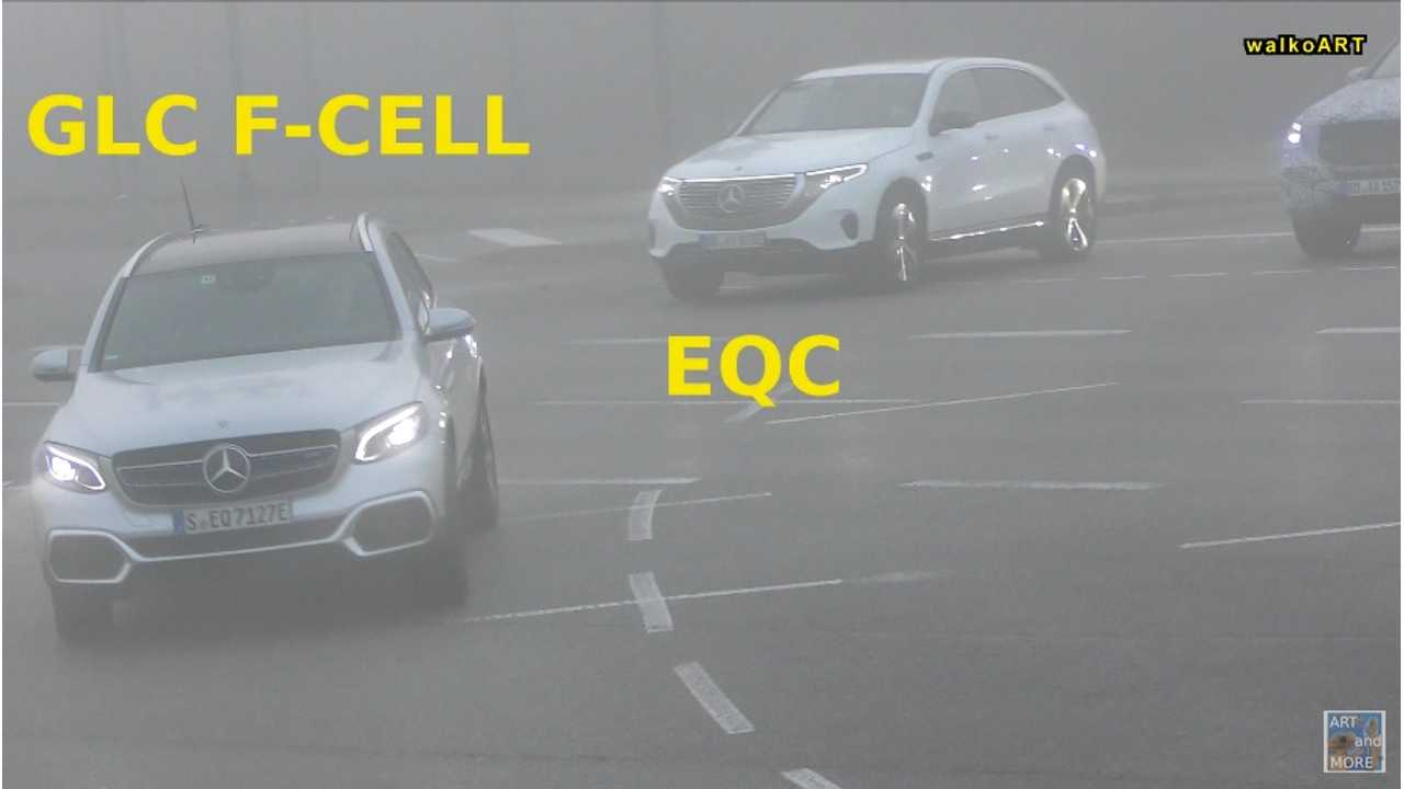 Mercedes-Benz EQC & GLC F-CELL Spotted Together: Video