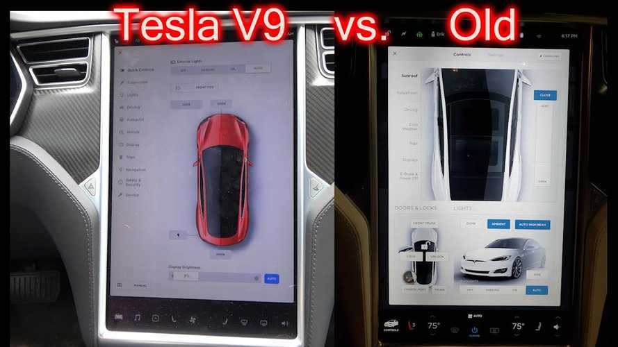 Tesla Software Version 9: New Versus Old