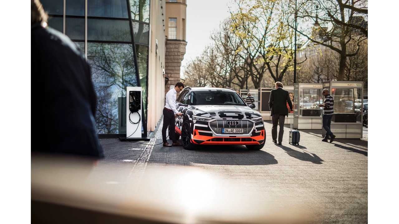 Audi Connects E-Tron Electric SUV To Your Home