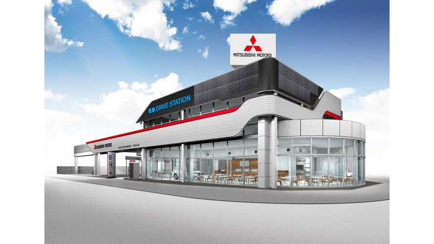 Mitsubishi Enhances Dealers In Japan With Solar, DC Charging, V2B, ESS