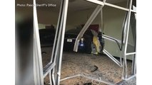 Watch Tesla Model X Crash Through Wall Of Anytime Fitness