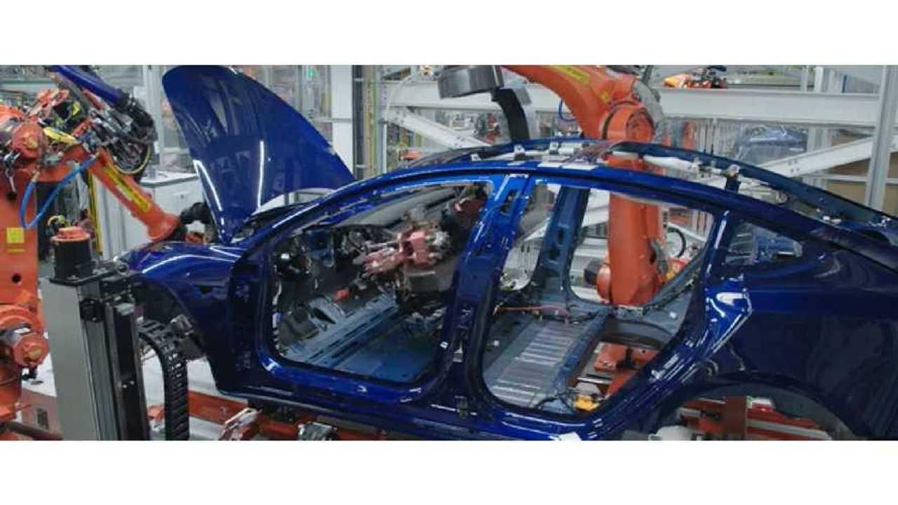 Musk Says Tesla Model 3 Production Target Is 6,000 A Week By June