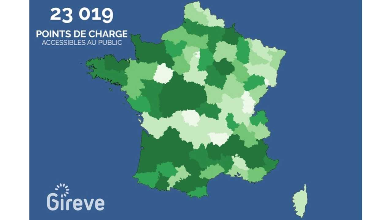There Are Now 23,000 Public Charging Points In France