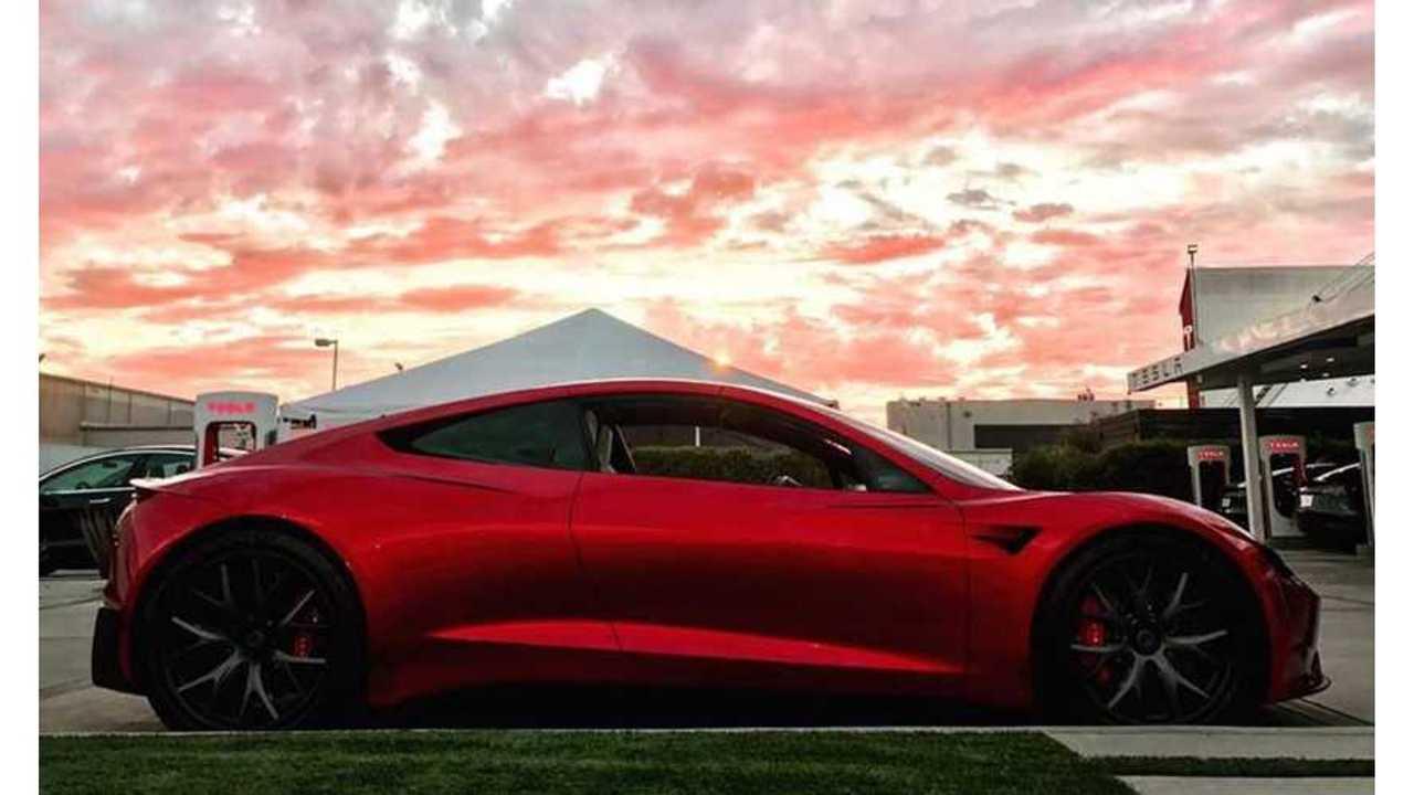Tesla Roadster Makes Rare Appearance At Design College