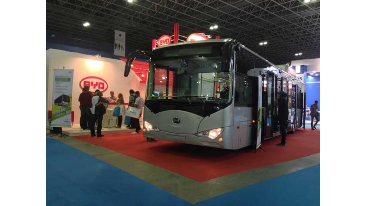 BYD Unveils New K9-12d Electric Bus In Brazil