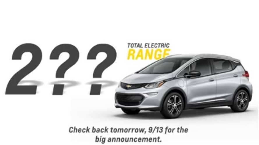 Chevrolet Bolt Electric Range Announcement Coming Tomorrow (update)