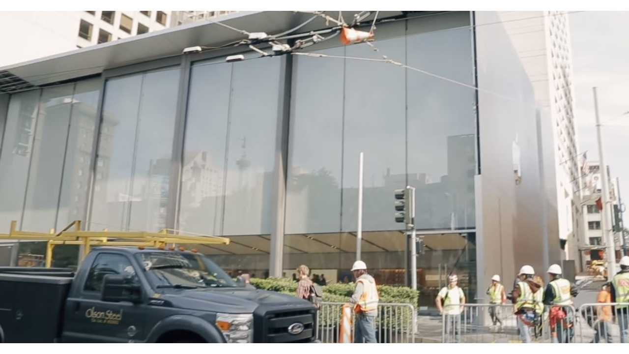 Apple's New Store Appears Apple Car Ready - Video