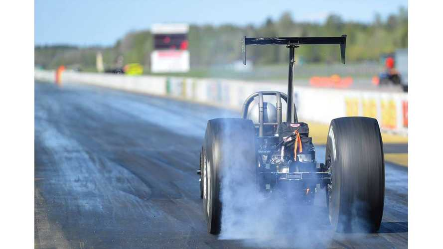 "800-Volts Dragster ""Electric Fox"" Sets European 1/4 Mile Record At 7.631 Seconds (w/videos)"