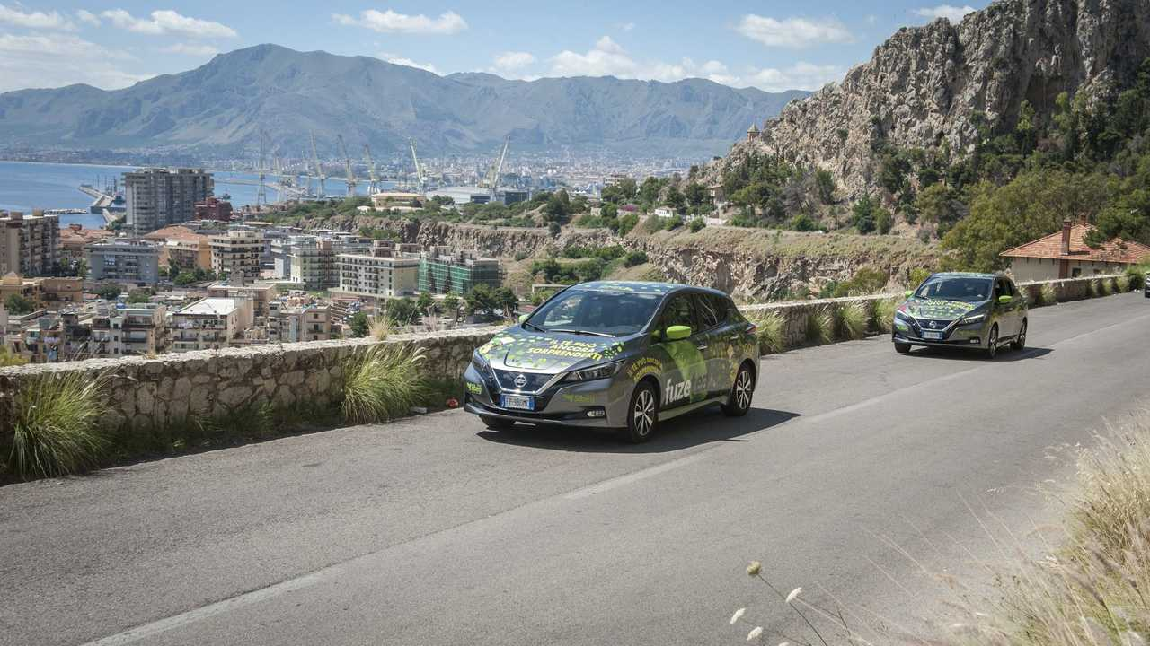 Nissan LEAFs in Sicily, Italy