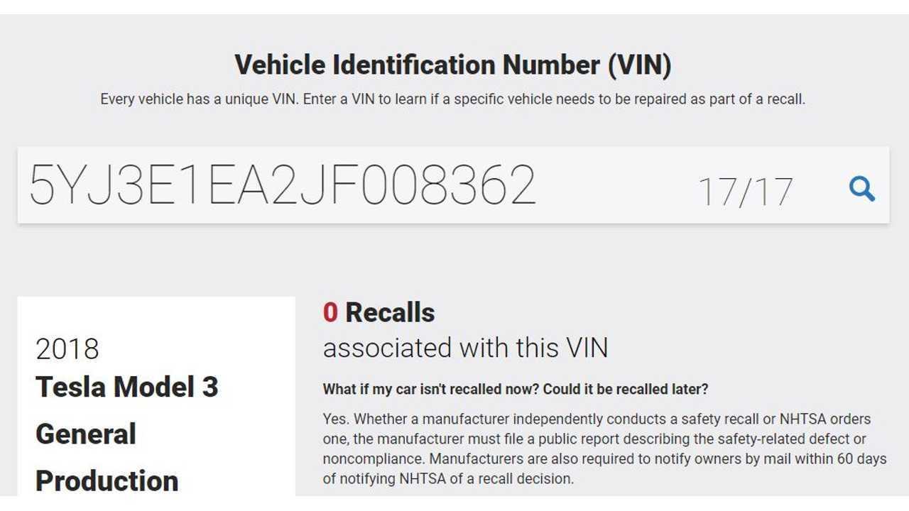 VIN 8362 Listed On NHTSA - Last Update 12-29