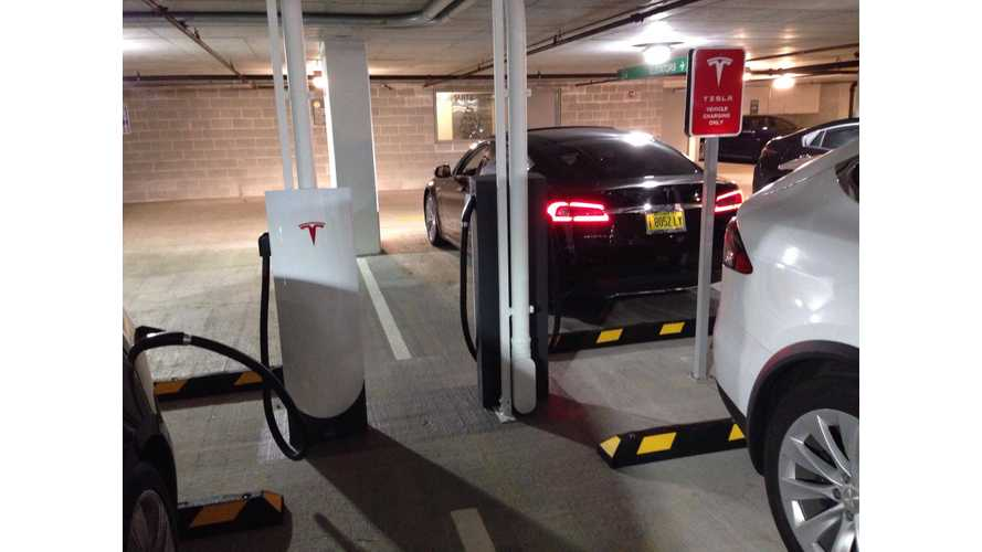 We Visit Tesla's New Urban Supercharger - Images + Video