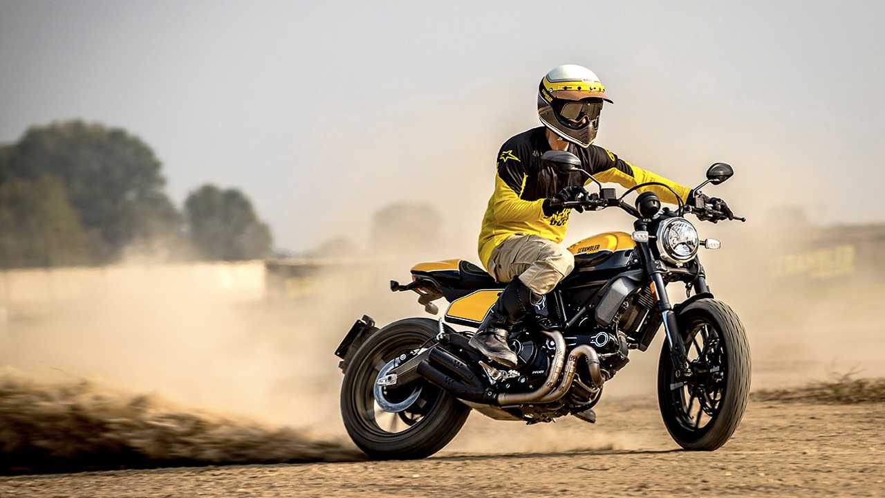 Ducati Scrambler Desert Sled, Café Race, and Full Throttle