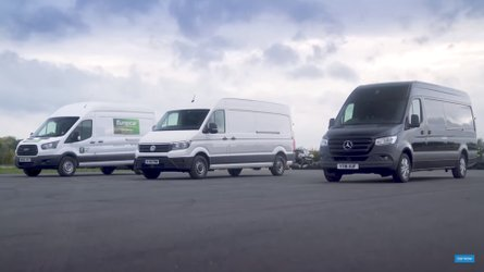 Ford Transit Drag Races VW Crafter, Mercedes Sprinter For Fun