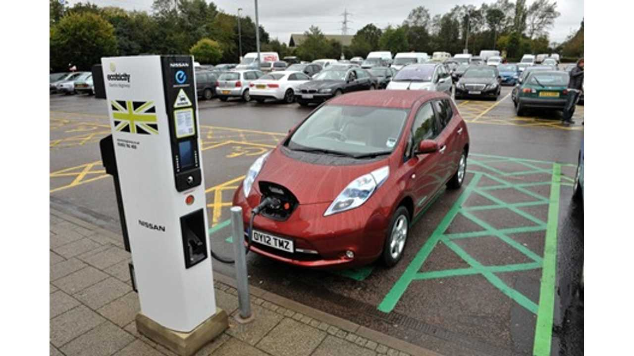 Electric Cars Clock 500,000 Miles On Electric Highway Over One Year Period