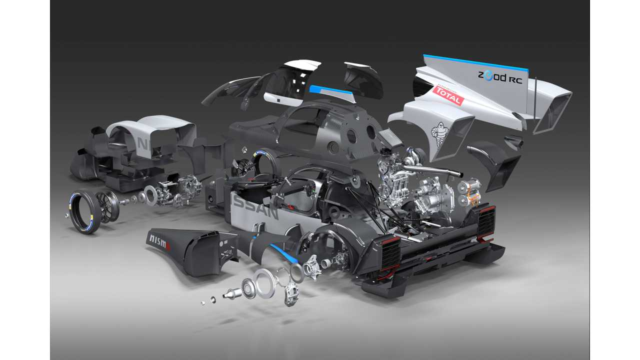 Nissan ZEOD RC Exposed - Exploded Cutaway