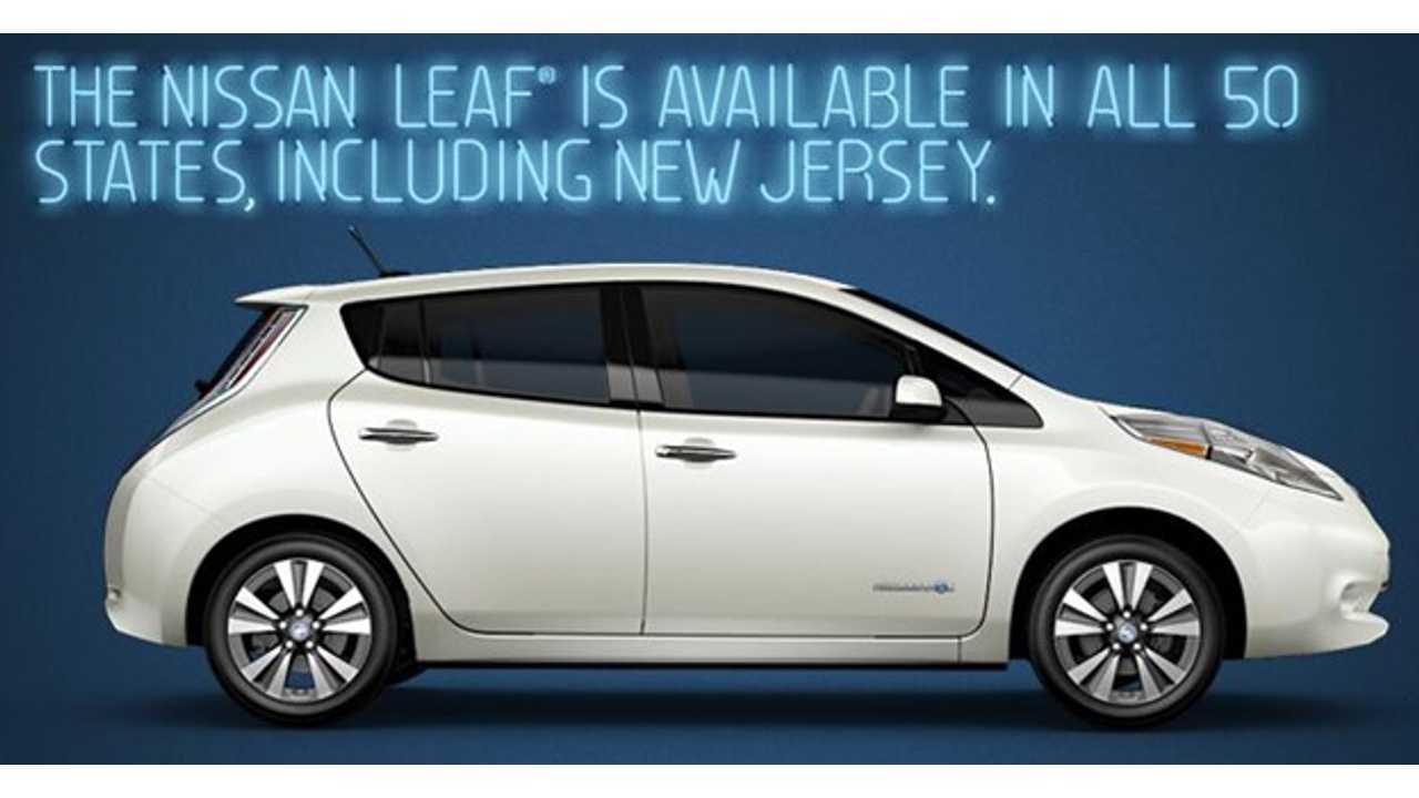 Nissan Tweets Shot At Tesla's New Jersey Problem, Then Deletes It