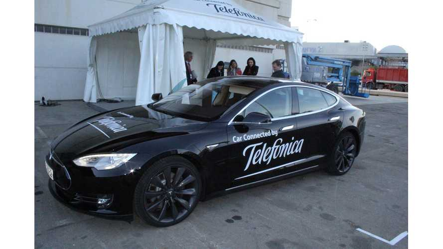 Tesla Model S Gets Machine-to-Machine Connectivity in Europe Via Telefonica