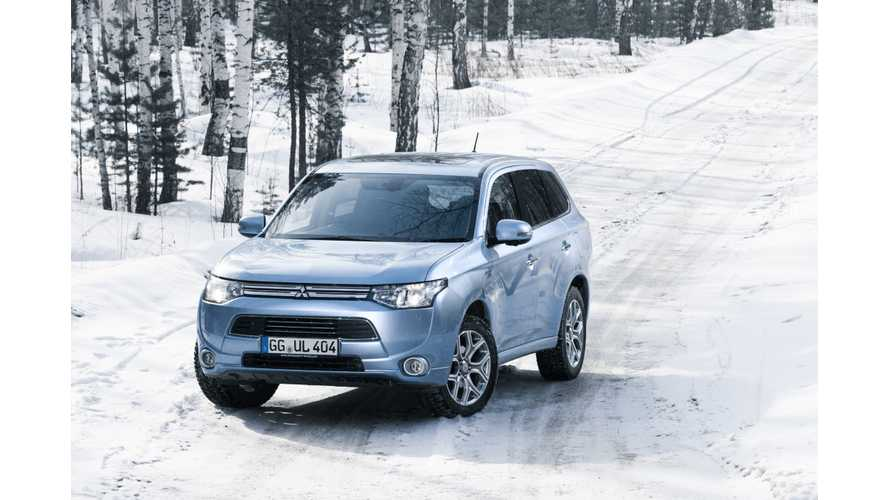 Mitsubishi Outlander PHEV Completes 8 Weeks Of Cold Testing In Russia