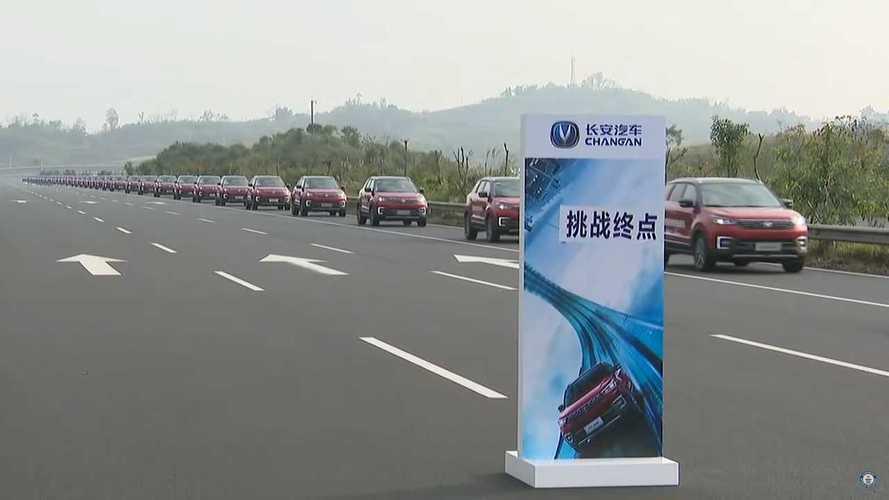 Changan Automobile Autonomous Car Parade Record