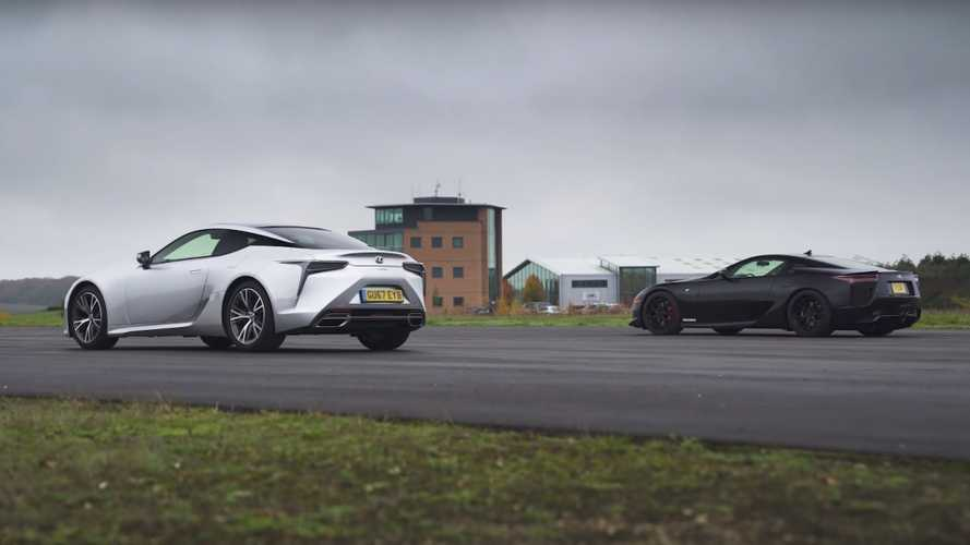 Lexus LFA vs LC 500 drag race is a mismatch you'd still watch