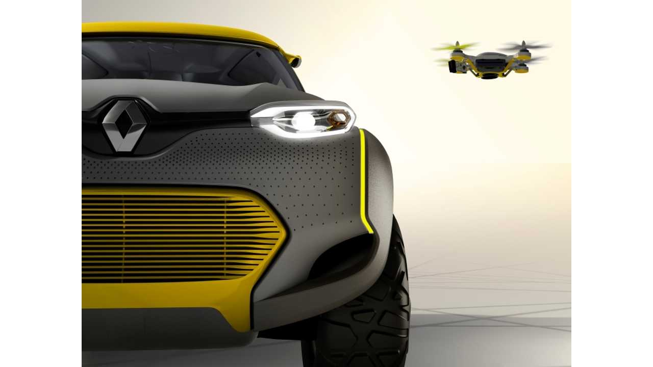 Renault Unveils Z.E.-Ready KWID Concept With Drone