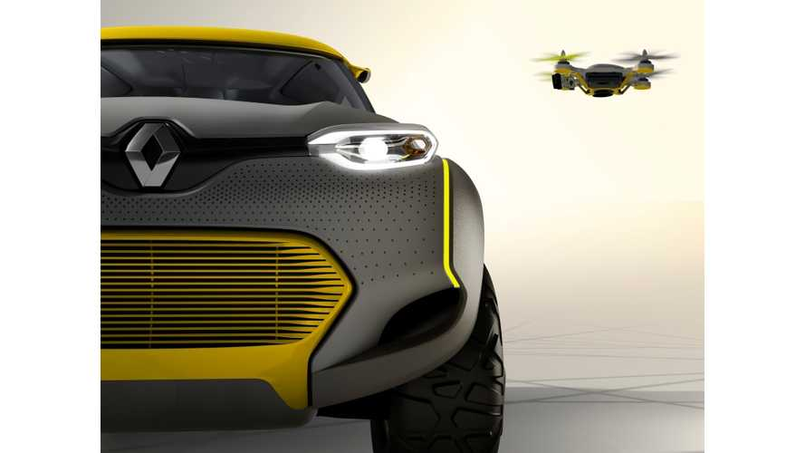 "Renault Unveils Z.E.-Ready KWID Concept With Drone ""Flying Companion"" (w/videos)"