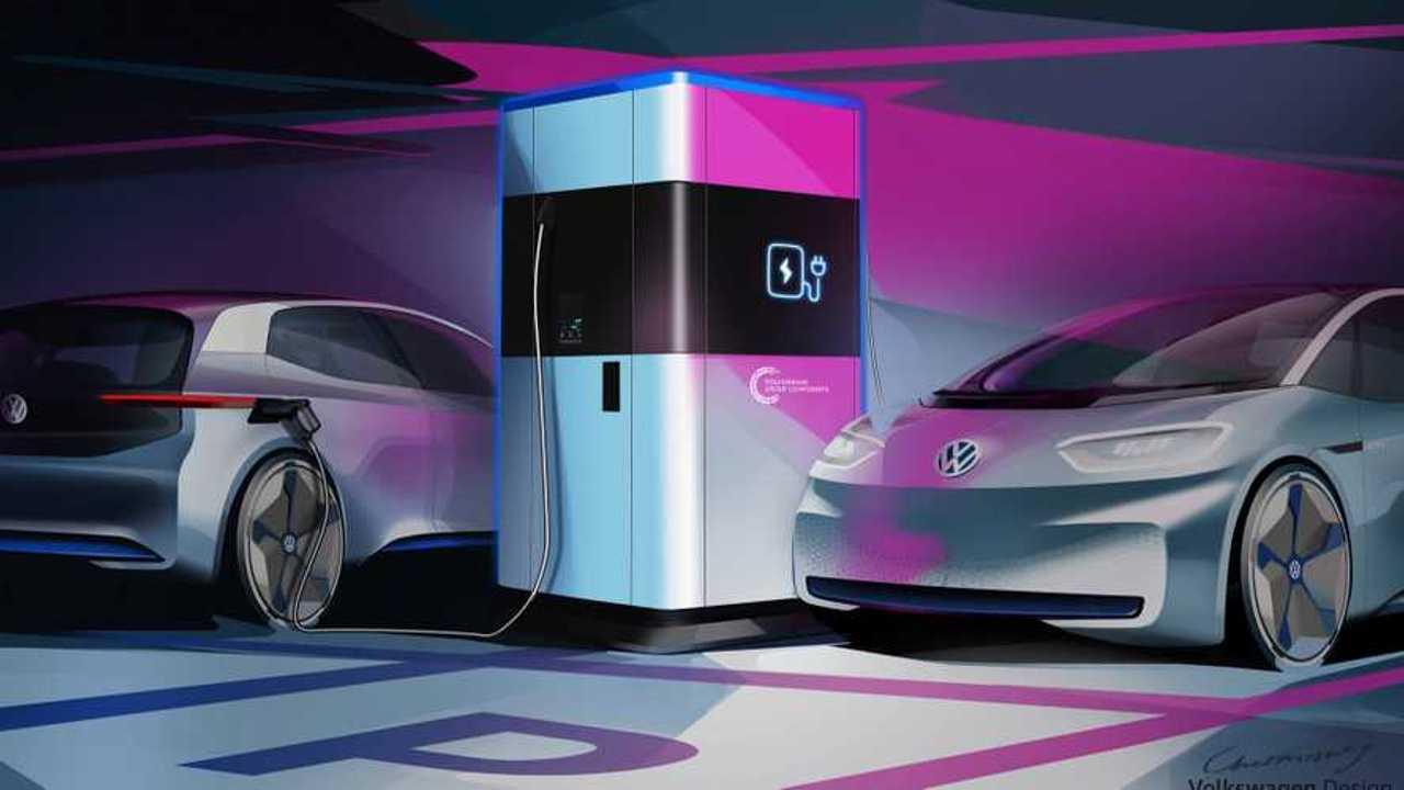 Volkswagen station de recharge mobile