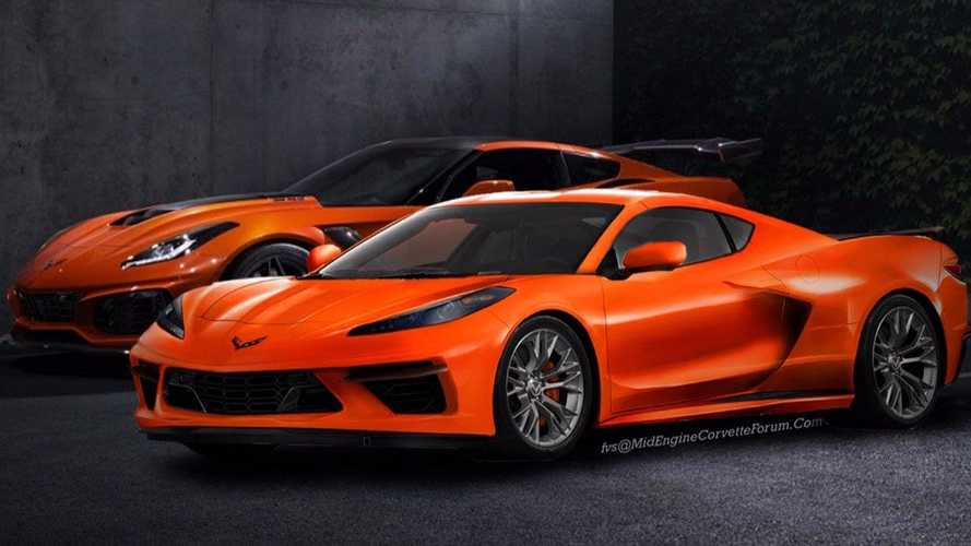 Mid-engined Corvette shows its size in side-by-side comparison