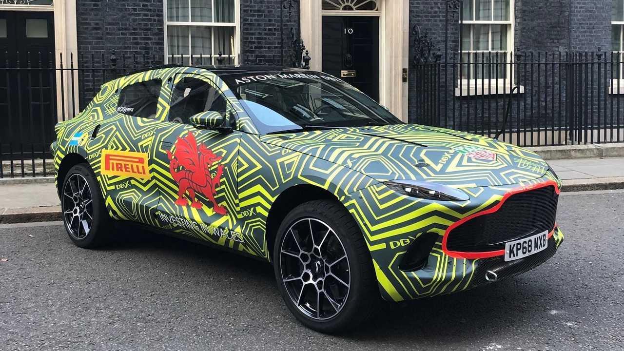 Aston Martin's new DBX heads to Downing Street