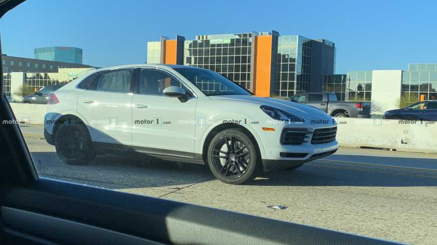 Porsche Cayenne Coupe spy shots from Motor1.com reader