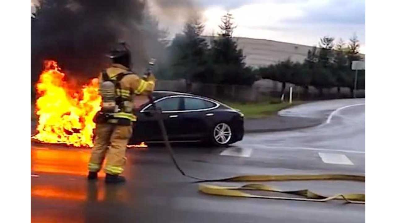 Tesla Model S Fire Prompts Fire Department to Ignite Electric Vehicle for Additional Training