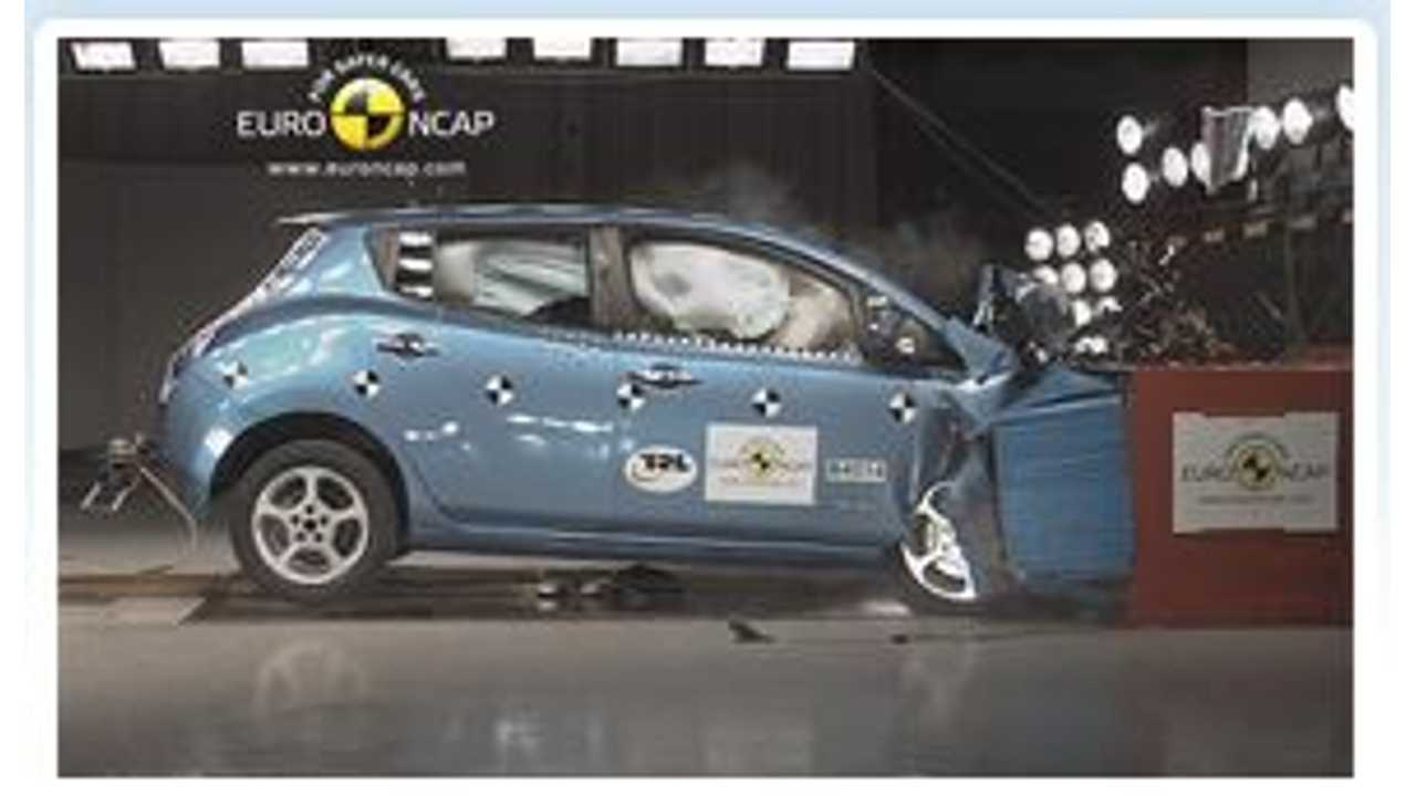 Video: Watch How Nissan Prepped the LEAF to Pass Euro NCAP Crash Tests