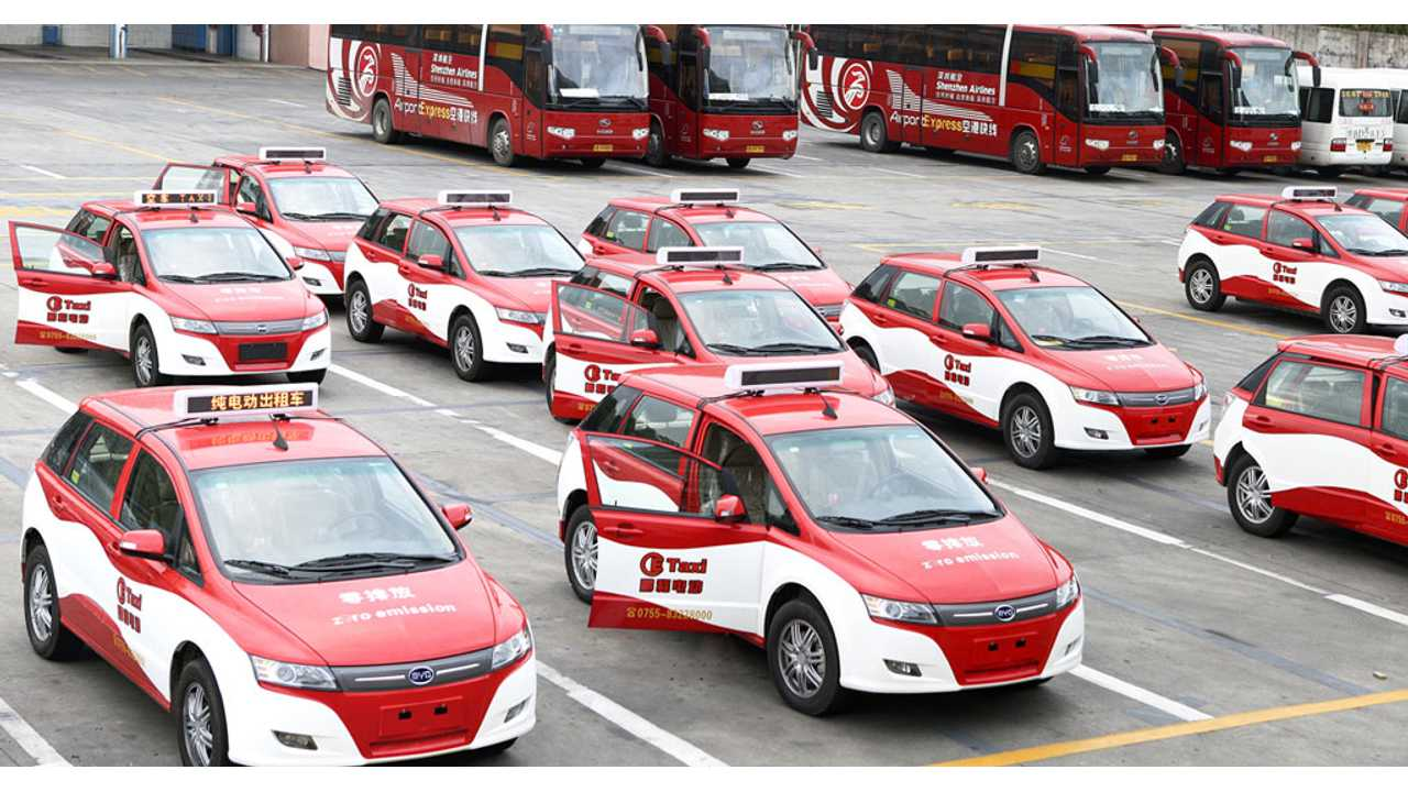 BYD Logs Over 1,500 e6 Electric Taxi Orders In Taiwan