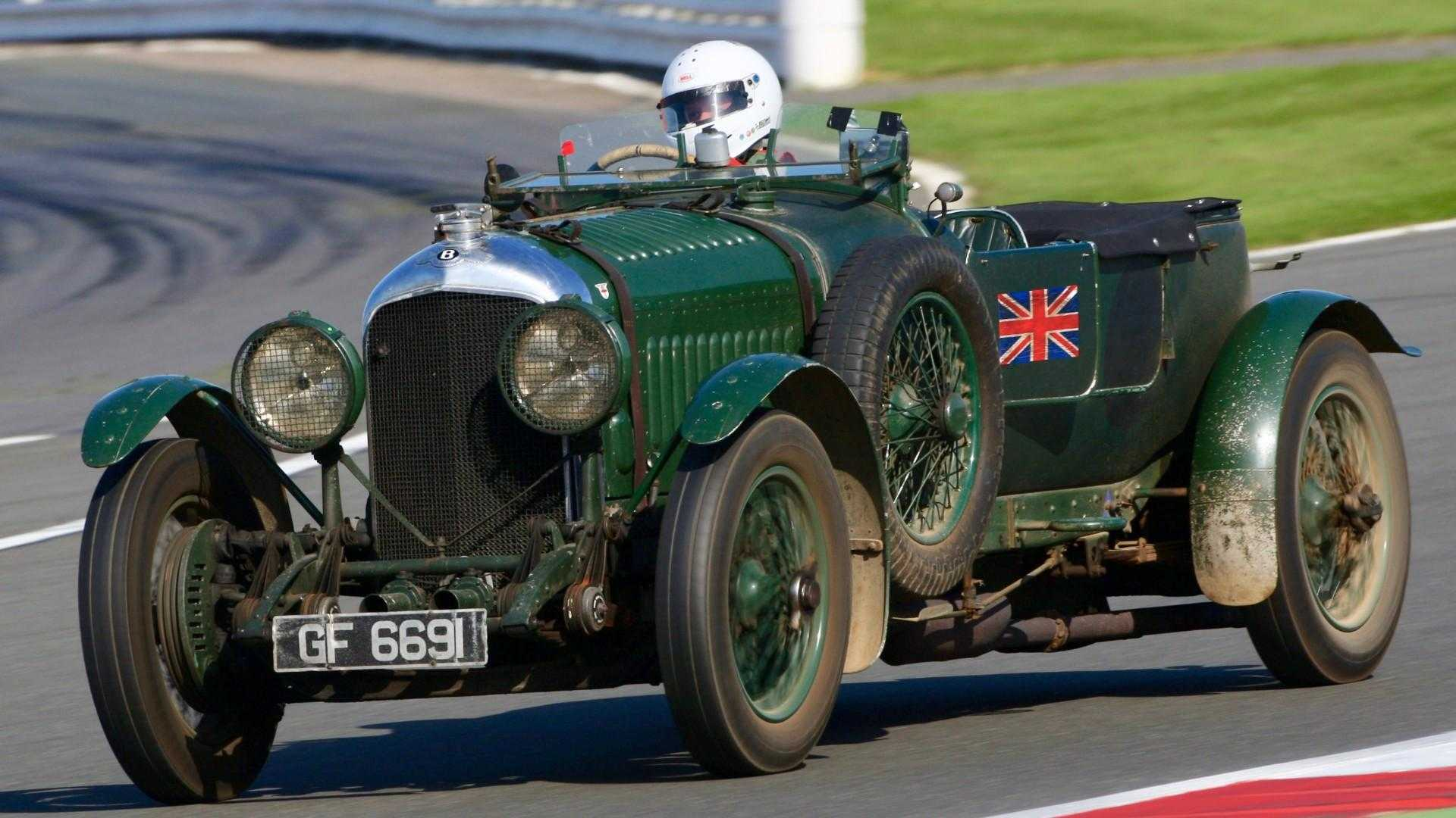 "[""Bentley Centenary race at Silverstone Classic""]"