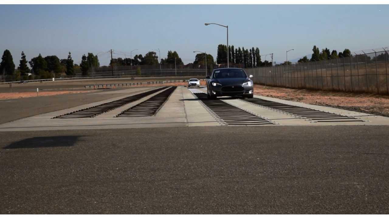 Tesla Model S Test Track Drive Fremont 3