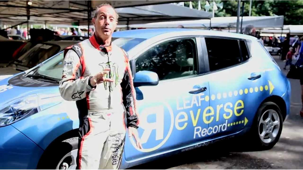 Nissan LEAF Sets World Speed Record Over 1 Mile In Reverse (Watch Video)