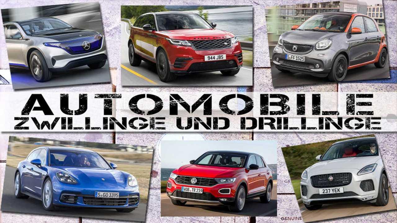 Autos mit gleicher Plattform (Collage)