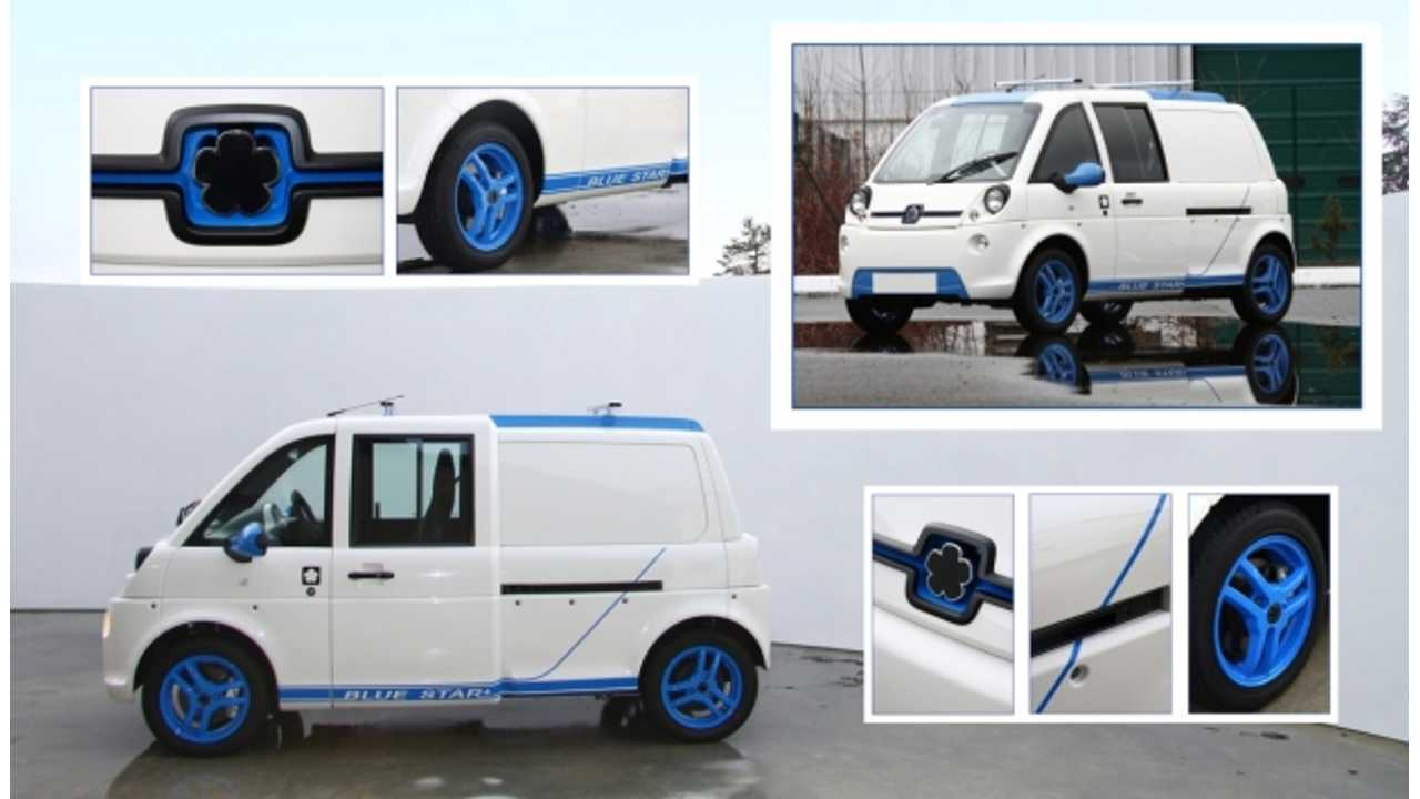 Funky Mia U Electric Van Gets Blue Star Limited Edition