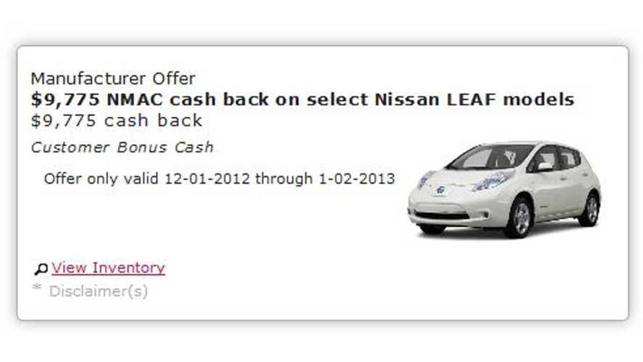 California Nissan Dealer Discounts 2012 LEAF by $9,775