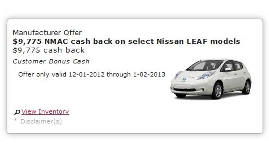 California Nissan Dealer Discounts 2012 LEAF by $9,775