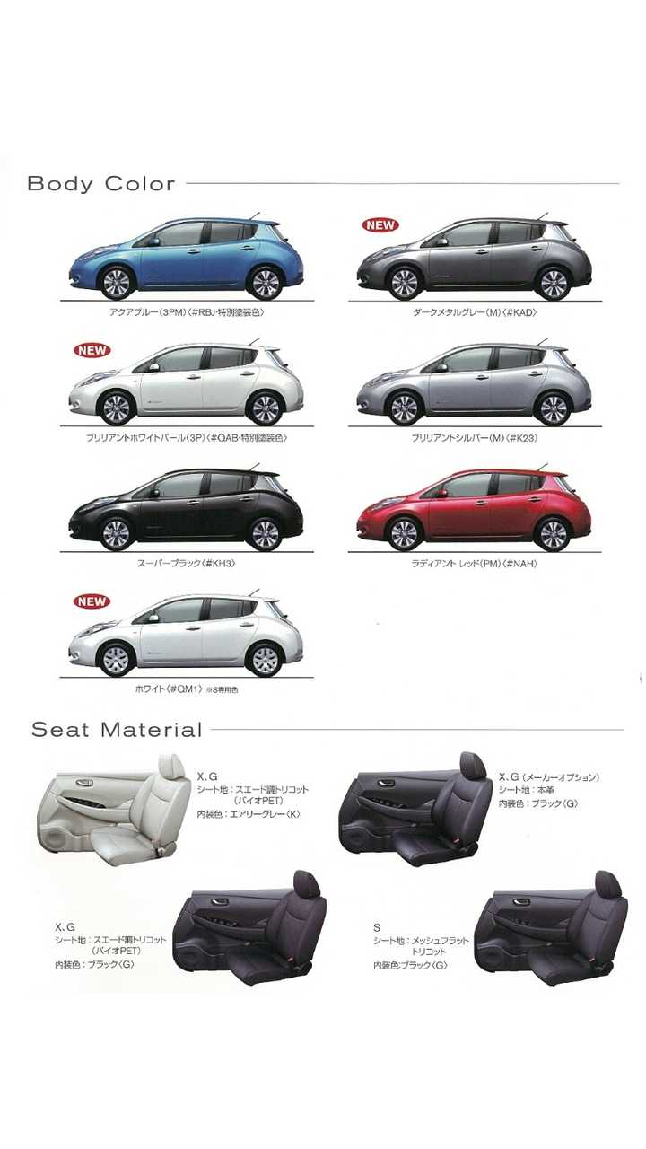 New Colors And Seat Material Configurations (click to enlarge)