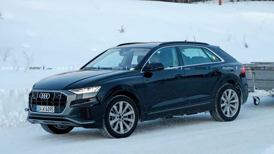 Audi Q8 plug-in hybrid spied testing in plain sight
