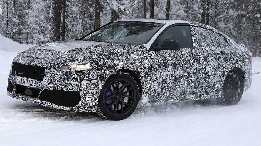 BMW M235i Gran Coupe spied trying to cover up in the cold