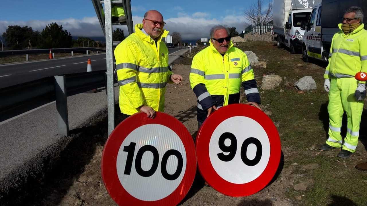 Cambio velocidad carreteras 90 km/h