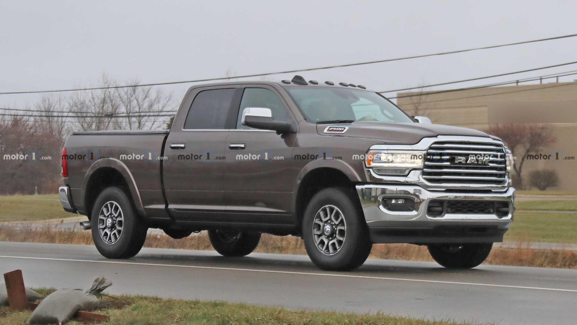 2020 Ram Hd Pickup Convoy Spied Completely Uncovered