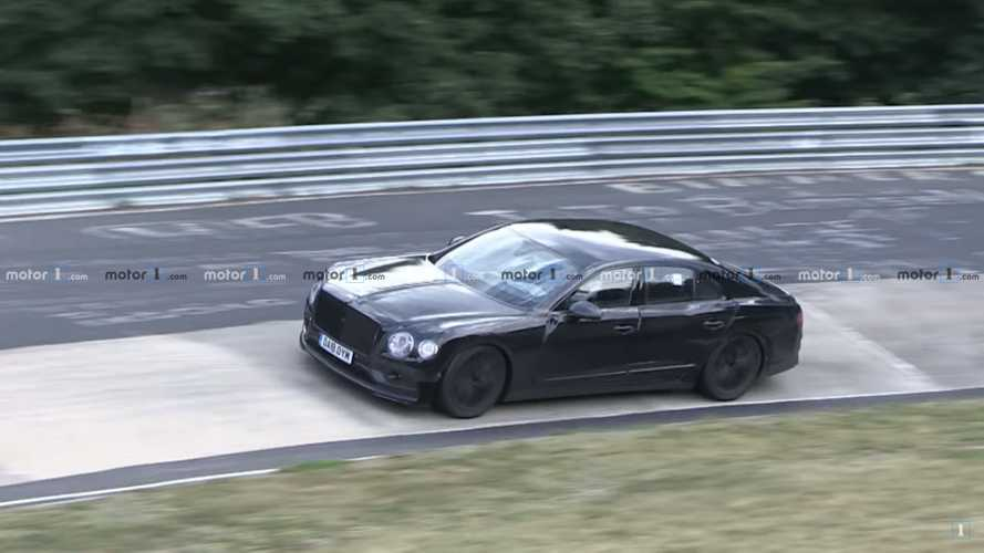 2019 Bentley Flying Spur spied sideways at the Nürburgring