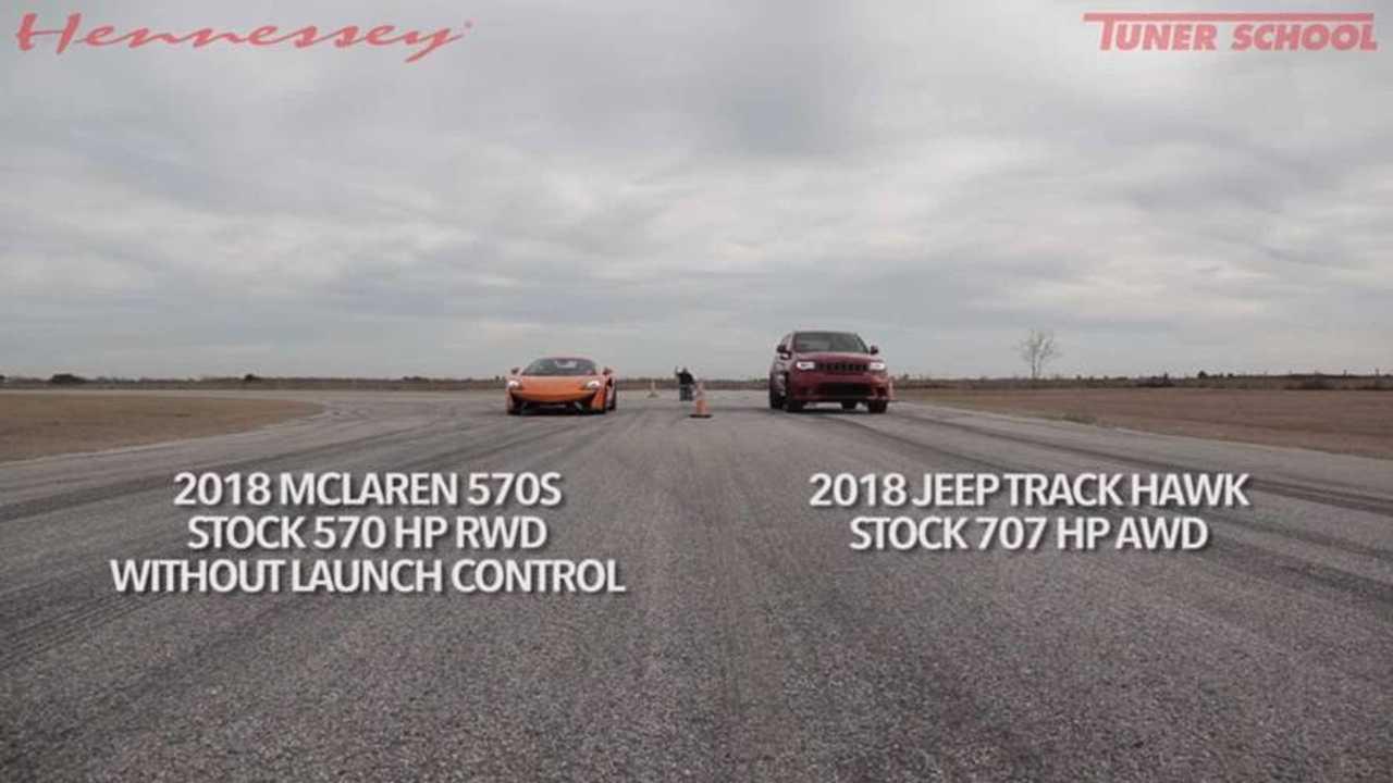 Jeep Grand Cherokee Trackhawk Vs McLaren 570S