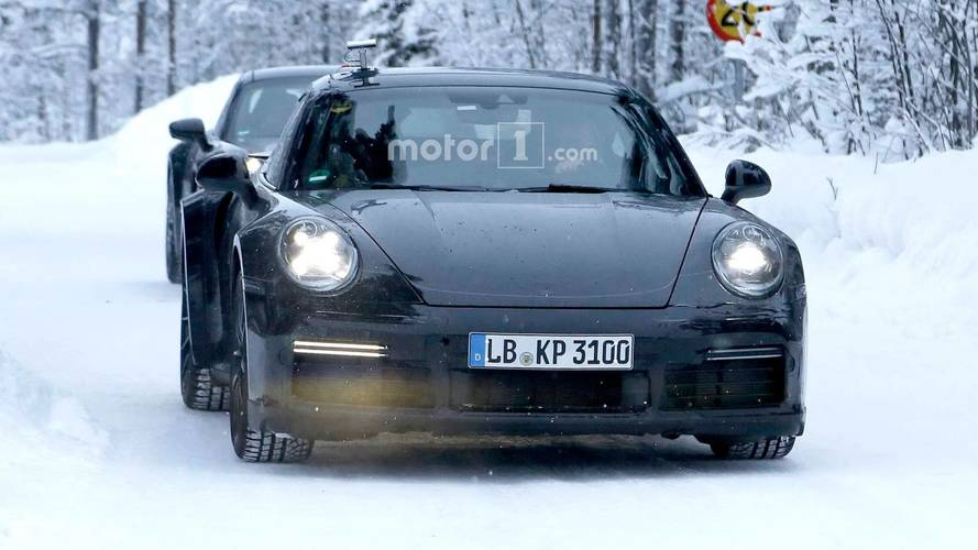 Porsche 911 Turbo Spied Testing With Mission E